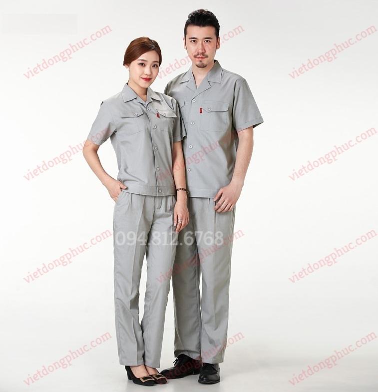 Mẫu quần áo công nhân phong cách hiện đại, trẻ trung, thời trang, tiện dụng