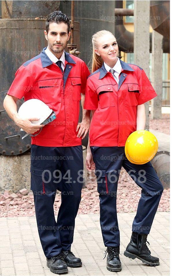 Đồng phục bảo hộ lao động cá tính, năng động, mặc thoải mái ngày hè