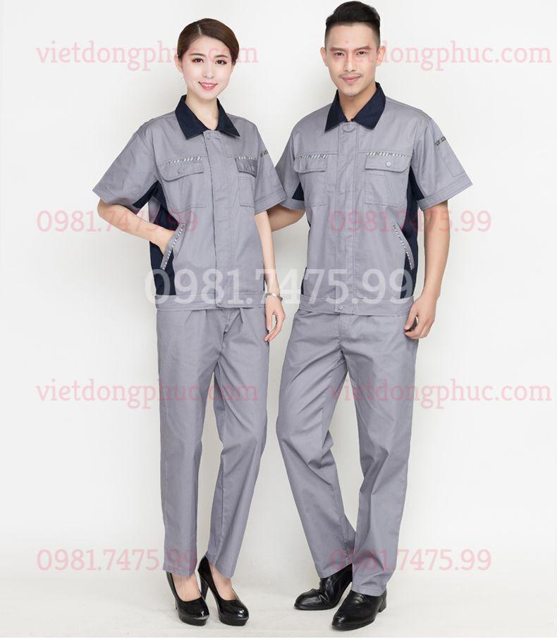 Bảo hộ lao động ngắn tay 09