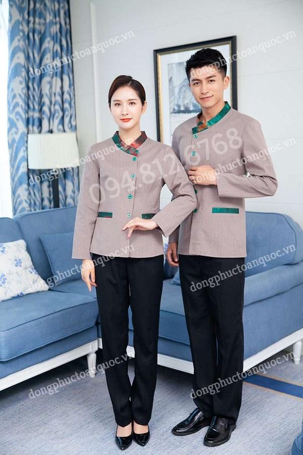 Mẫu đồng phục nhân viên nhân viên phục vụ buồng thời trang, thanh lịch