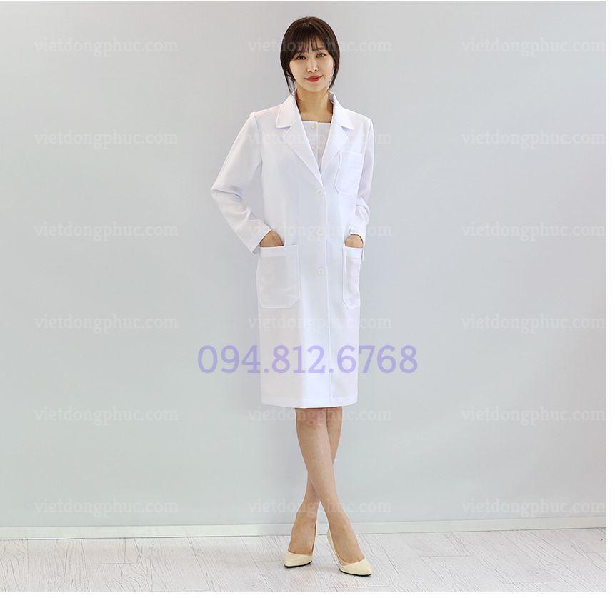 Mẫu áo Blouse trắng dài tay chuyên nghiệp, độc quyền tại VIỆT ĐỒNG PHỤC