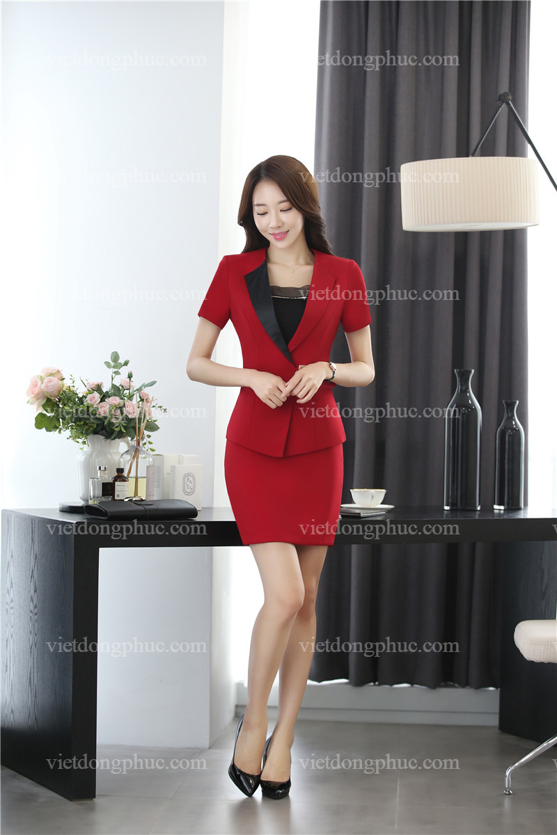 Địa chỉ may đồng phục áo vest nữ kiểu dáng cực chuẩn