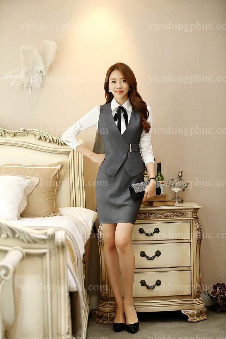 Đồng phục áo gile Nữ 02