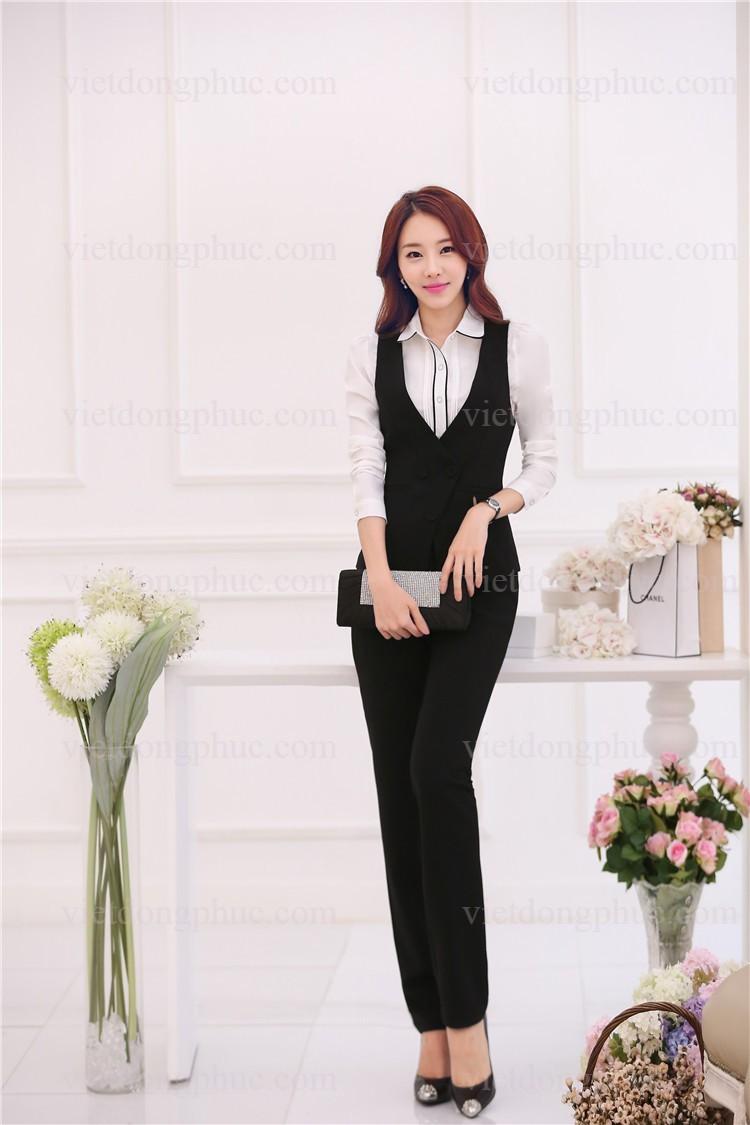 Đồng phục áo gile Nữ 03