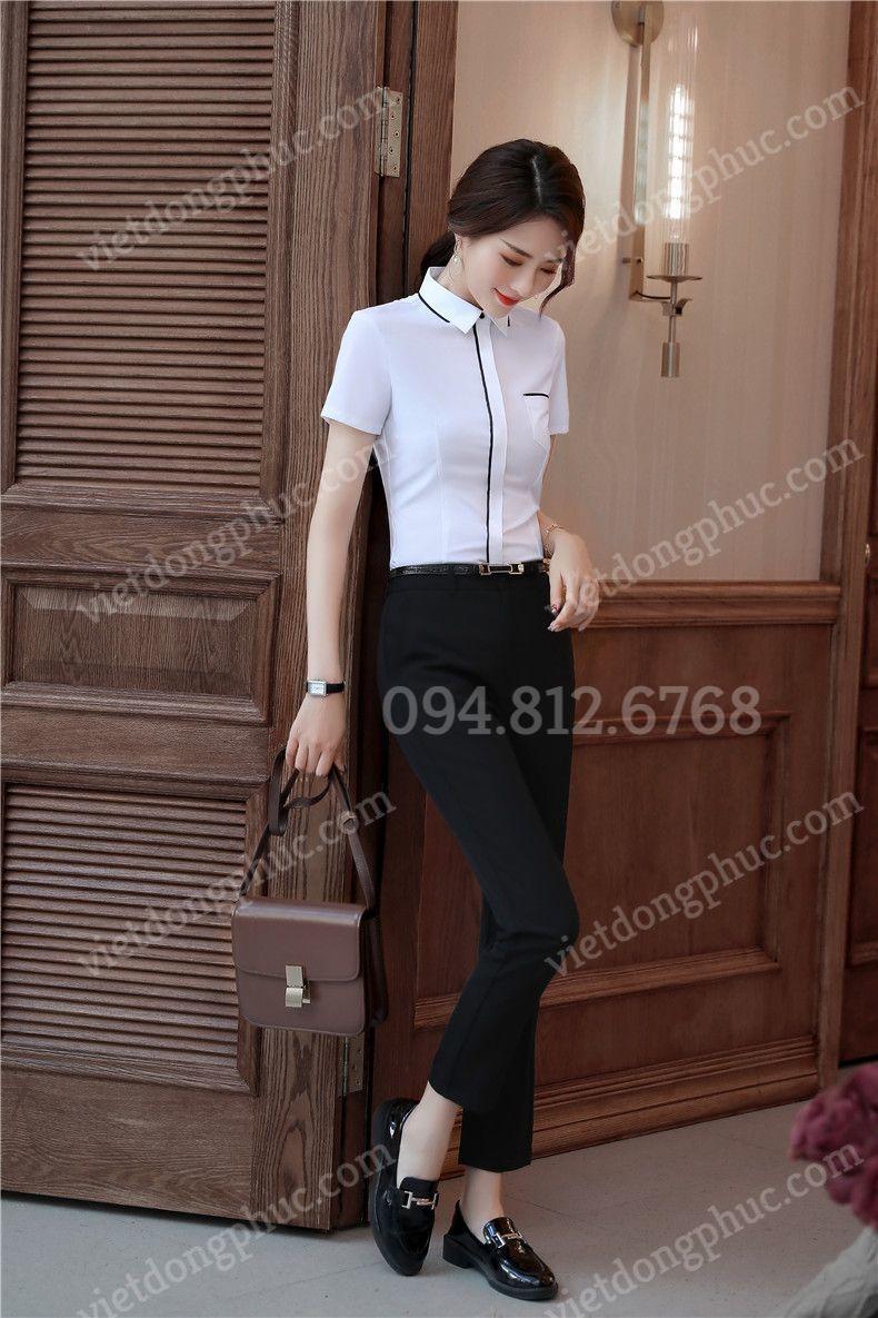 Mẫu áo sơ mi nữ công sở đẹp, chất liệu cao cấp, form chuẩn