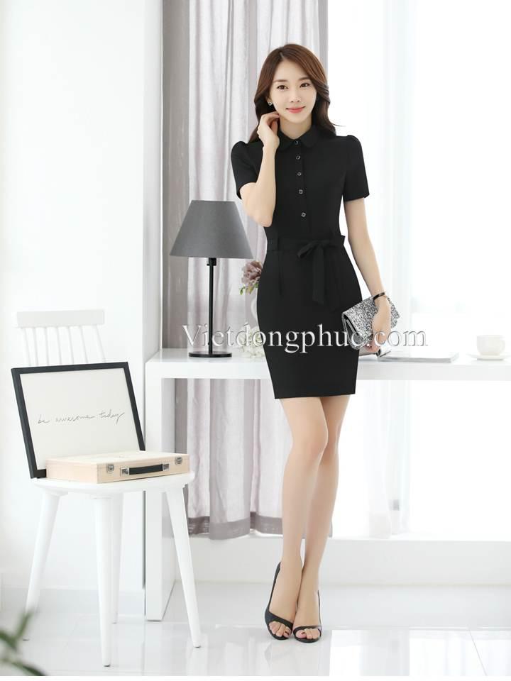Mẫu váy liền thân công sở cao cấp, độc quyền, giá rẻ tại VIỆT ĐỒNG PHỤC