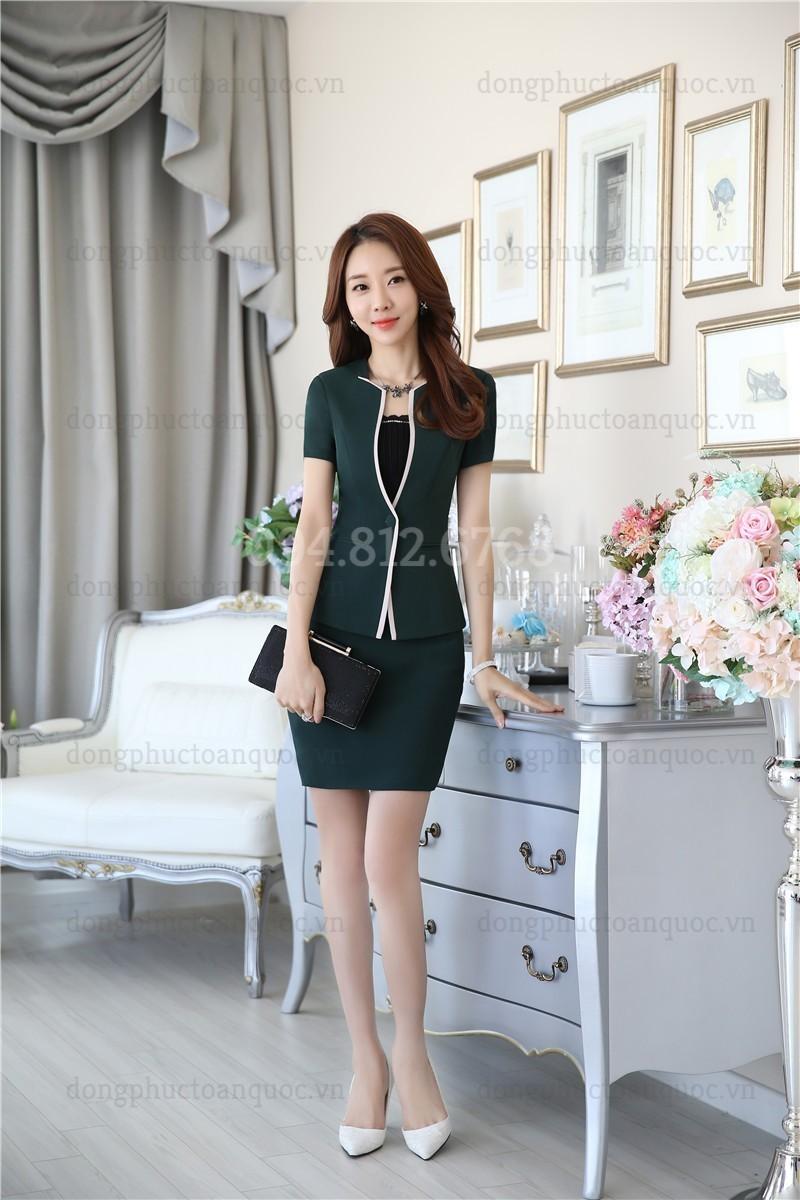 Mẫu áo vest nữ đồng phục mùa hè cực thời trang, tinh tế tại Hà Nội
