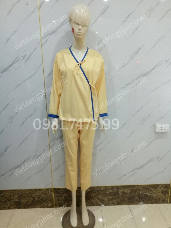 Mẫu áo bệnh nhân thiết kế đẹp, có sẵn mẫu thực tế