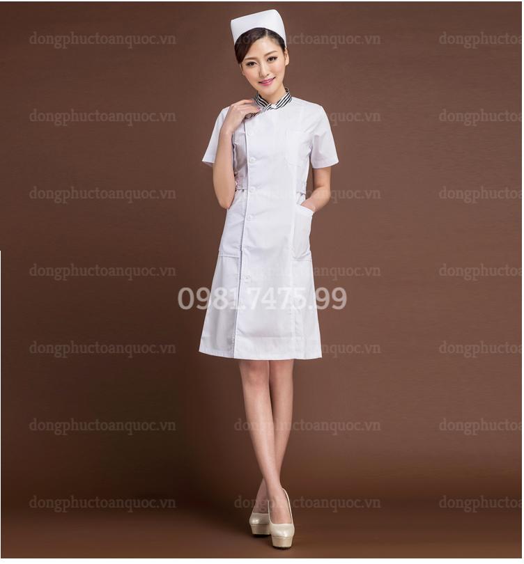 Mẫu đồng phục Y tá đẹp, kiểu dáng đơn giản, thanh lịch